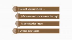 Geloof versus Check - IEP moeder thema